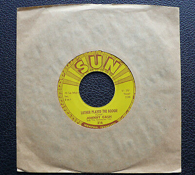 """7"""" Johnny Cash - Luther Played The Boogie - US SUN 316"""