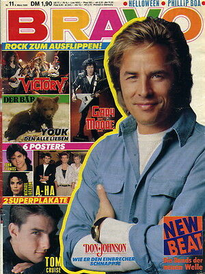 Bravo 11-1989 TB Don Johnson >komplett mit a-ha Riesenposter<