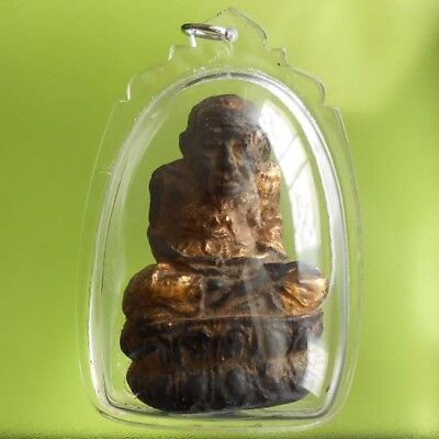 Great Lp Tuad Old Thai Statue Amulet Very Real Rare !!!