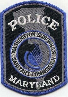 new style WASHINGTON DC SUBURBAN MARYLAND MD SANITARY COMMISSION POLICE PATCH