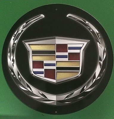 "Cadillac Shield 24"" Metal Sign"
