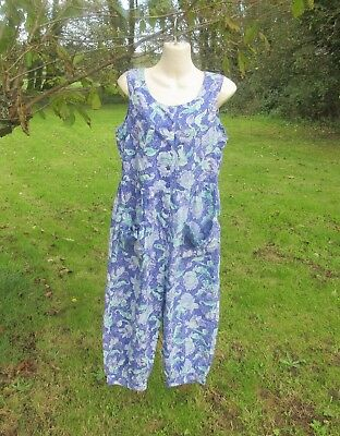 Vintage Laura Ashley Jumpsuit, Playsuit, Dungarees,  Size M. With Defects.
