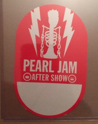 Pearl Jam Official Backstage Pass Sticker New & Unused Not Poster Vinyl Pin