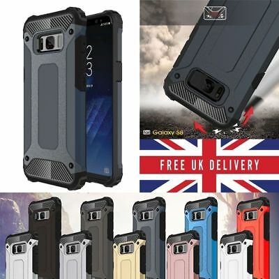 Hybrid Armor Case with Shockproof Rugged Bumper Cover For Samsung Galaxy Models