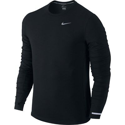 Men's Nike Dri-Fit  - MEDIUM - Contour Long Sleeve Black- 683521 Running-Top