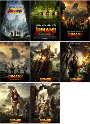 8 Jumanji: Welcome to the Jungle 2017 Mirror Surface Postcard Promo Card Poster