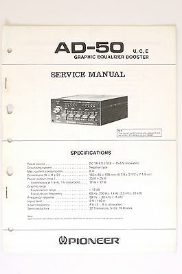 Pioneer ad 50 graphic equalizer booster original service manual pioneer ad 50 graphic equalizer booster original service manualwiring diagram asfbconference2016 Gallery