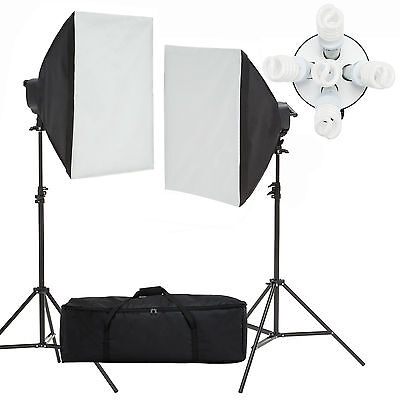 Photo Studio Video Photography Softbox 2000W Light Stand Continuous Lighting Kit