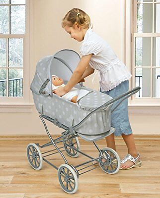 3 In 1 Baby Doll Stroller Toy For Girl Kid Pretend Play Life Like Mommy Bassinet