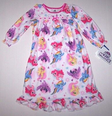 Nwt New My Little Pony Hasbro Flannel Granny Nightgown Pajamas Bright Color Girl