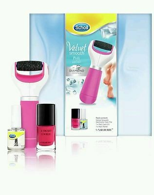 Scholl Manicure and Pedicure Gift Set. Velvet smooth Diamond Crystals *GENUINE*