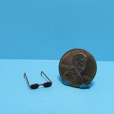 Dollhouse Miniature Sunglasses with Red Frames ~ FA71017