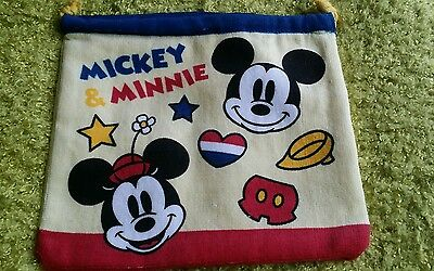 New Mickey Mouse Drawstring Cosmetic Bag Lunch Box Bag Sandwich Bag