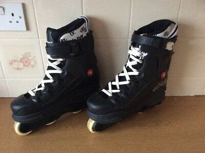 Airwalk Aggressive Inline Skates UK Size 8 VGC BLACK