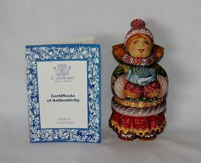 """Limited Edition ~ G. DeBrekht """" Cozy up with Bunny """" Russian Derevo Collection"""