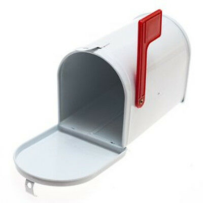 Mini White OR Red Tin Mail Box - Tinplate Post Box