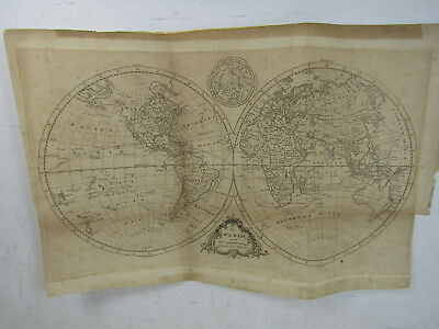 Antique J Lodge The World With The Latest Discoveries Map 1778