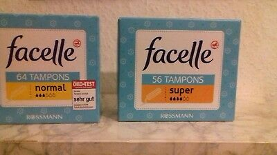 facelle 64x normal + 56 Super Tampons NEU