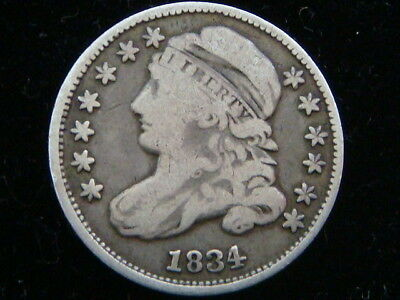 1834 Capped Bust Silver Dime 90% SILVER COIN