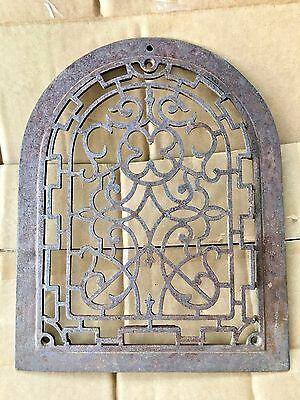 Antique Cast Iron Arch Top Dome scroll Heat Grate Wall Register Vintage 12""