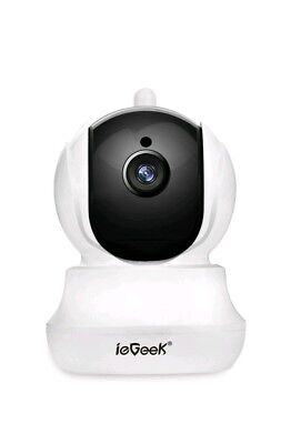 ieGeek Wi-Fi Wireless IP Camera CCTV Home Security with Pan/Tilt/Zoom, Two-way A