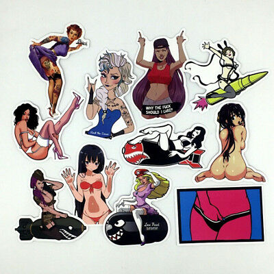 50Pcs Sexy Girl Skateboard Stickers DIY Laptop Luggage Stickers Decals EP