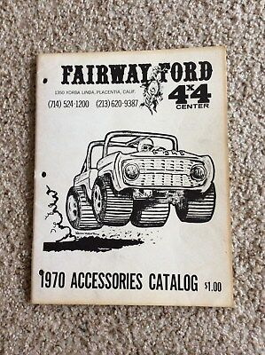 1970 Ford Bronco Performance accessories catalogue from Fairway ford 4 by 4 cent