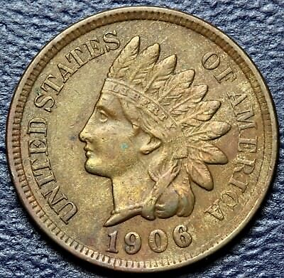 1906 Indian Head Cent * Extremely Fine Details * Full Sharp Liberty   #3