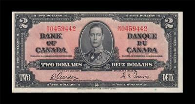 "1937 BANK OF CANADA KGVI $2 ""Consecutive 2 of 2"" (( GEM UNC ))"