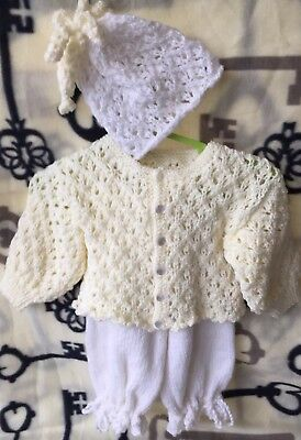 Brand New Hand Knitted Baby Set.