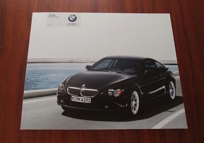 BMW 6 SERIES COUPE 645Ci 2004 BROCHURE E63 V8 Collectible Advertisement