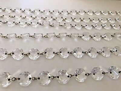 Single Vintage Chandelier Crystal Strand with 17 Crystals