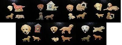 Lot of 28 Collectible Golden Retriever Refrigerator Magnets Very Nice Lot