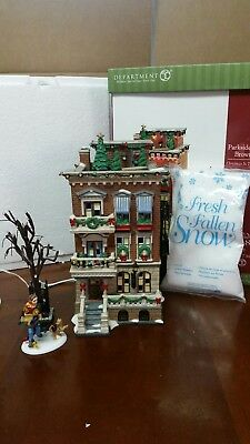 """Dept 56 Christmas in the City """"Parkside Holiday Brownstone"""""""