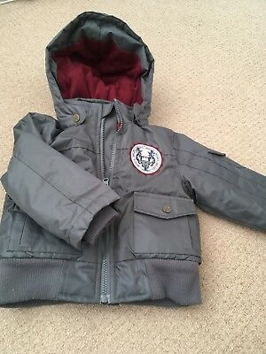 Hadleigh Boys Coat Jacket Age 1-2 Years (12-18 Or 18-24 Months)