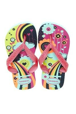 8712e3f46c2a Girl s Havaianas Size 13C 1Y Youth Pink Ice Blue Flip Flops Shoes Flip Flop