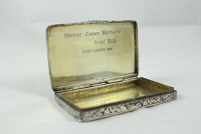 Antique German Silver 1942 Makeup or Snuff Box