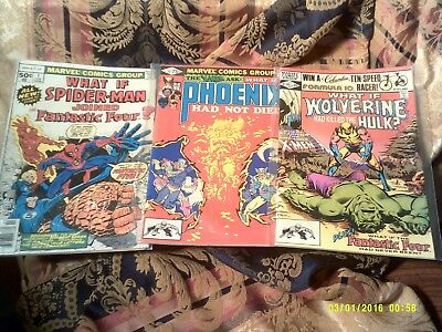 What If Lot, # 1 1St Issue , 27 Frank Miller, 31 Wolverine Killed Hulk, Vf/nm