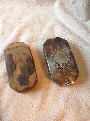 2 Vintage Silver 1 Is Marked Brush For Clothing Or Grooming, 1 Is Broken
