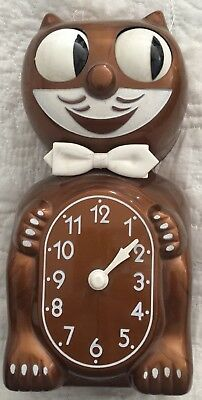 KIT CAT CLOCK, Bronze ANTIQUE, doesn't work, for parts only