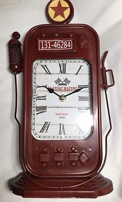 TEXACO Gas Pump Clock Classic Racing Collectible Gifts New