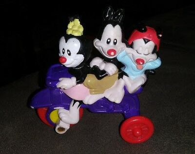 Warner Brothers 3 ANIMANIACS ON PURPLE TRICYCLE Collectible Toy 1993