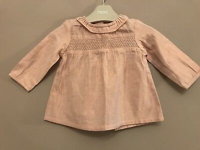 Next Baby Girls Sparkly Shimmering 3-6 Month Blouse BNWOT