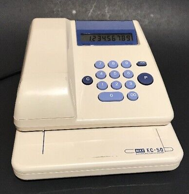 Max EC-50 Electronic Check Writer Protection Printer