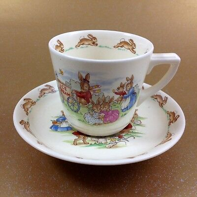 Vintage Royal Doulton Bunnykins Cup and Saucer By Barbara Vernon