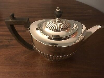 A Silver Played Victorian Teapot