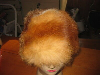 Vtg  RED FOX FUR~ Cossack Madame Glam  Winter HAT- Great COND~ GORGEOUS!