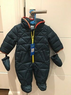 Ted Baker Snowsuit  Coat 3-6months Dark Green BNWT No Reserve Auction RRP £45