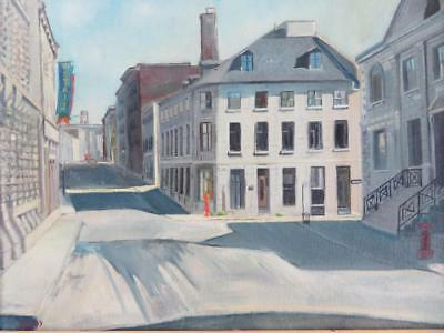 Mario Gross Kestranek (1927-2010) Canadian ORIGINAL signed Oil Painting MONTREAL