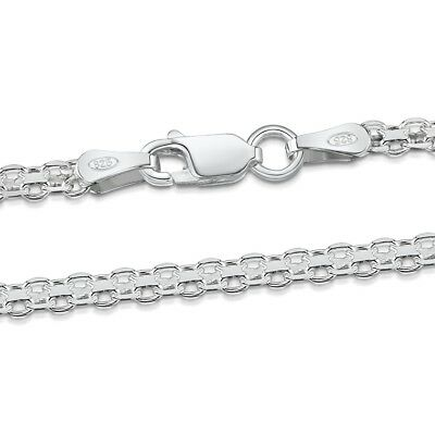 """Amberta Genuine 925 Sterling Bismark Anchor Chain Necklace 18 20 24"""" INCH Italy"""